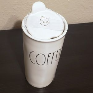 Rae Dunn Dining - Rae Dunn COFFEE Ceramic Travel Mug with Lid